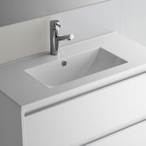 Lavabo encastrable / rectangular / de porcelana / moderno