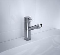 Grifo monomando para lavabo / de metal / de baño / con 1 orificio