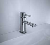 Grifo monomando para lavabo / de cromo / de baño / con 1 orificio