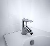 Grifo monomando para bidé / de cromo / de baño / con 1 orificio