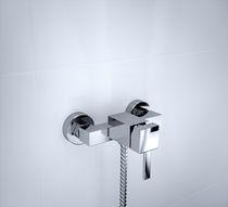 Grifo monomando de ducha / de cromo / de baño / con 1 orificio