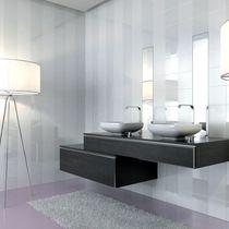 Baldosa para baño / de pared / de cerámica / de color liso