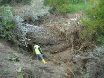 Barrera de protección / fija / de metal / contra aluviones de lodo