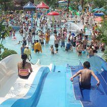 Tobogán recto / para parque acuático / múltiple