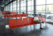 Hileras de sillas de metal / 4 plazas / 5 plazas / 8 plazas