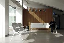 Hileras de sillas de metal / de contrachapado / de poliuretano / 3 plazas