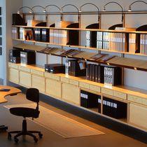 Armario de oficina alto / laminado / de pared / moderno