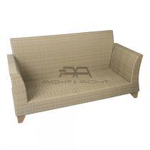 Sofá moderno / de exterior / de polietileno / 2 plazas