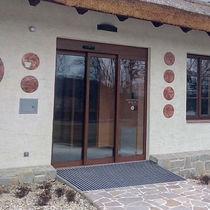 Puerta de interior / telescópica / de aluminio / automática