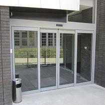 Puerta de entrada / abatible / de vidrio / de seguridad