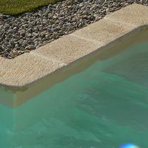Borde de piscina de piedra reconstituida