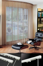 Riel para cortina accionado mediante cordones / para montajes en techo / para cortinas fruncidas / para uso doméstico