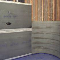 Panel de hormigón reforzado con fibra / de construcción / de revestimiento / de pared
