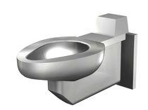 Inodoro suspendido / de acero inoxidable / con cisterna empotrada / para baño público