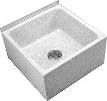 Lavabo sobre encimera / cuadrado / de granito / moderno