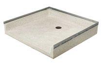Plato de ducha cuadrado / de piedra natural
