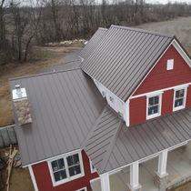 Panel de tejado de acero / con junta alzada