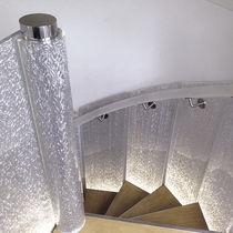 Barandilla de fibra acrílica / con paneles / de interior / para escalera