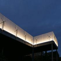 Barandilla de fibra acrílica / con paneles / de exterior / para terraza