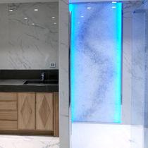 Mampara de ducha fija / para ducha empotrada / con luz