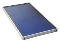 Panel térmico plano / para calefacción / de vidrio antirreflejos / con marco de aluminio
