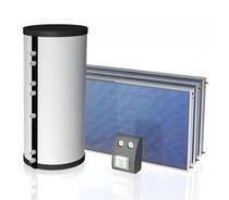 Depósito de agua caliente solar / de pie / residencial / de circulación forzada