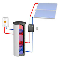 Depósito de agua caliente solar / de pie / vertical / residencial