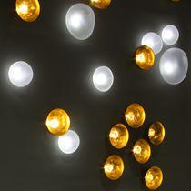 Plafón moderno / redondo / de latón / LED
