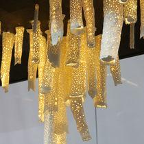 Lámpara araña de diseño original / de porcelana / LED / hecha a mano