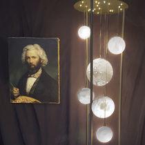 Lámpara de pie / moderna / de metal / de vidrio