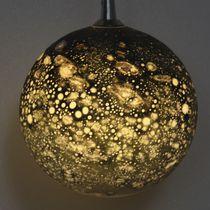 Lámpara suspendida / de diseño original / de metal / de vidrio