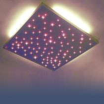 Plafón moderno / cuadrado / de aluminio / LED