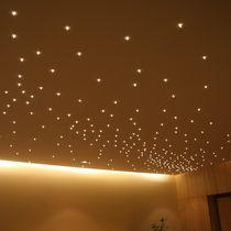 Plafón moderno / de vidrio / LED