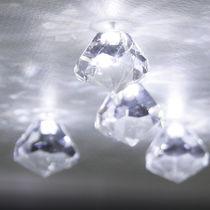 Plafón moderno / de cristal / LED