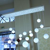 Lámpara araña moderna / de vidrio / LED