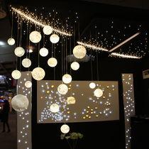 Lámpara araña moderna / de vidrio soplado / LED