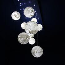 Lámpara suspendida / moderna / de vidrio soplado / de interior