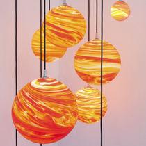 Lámpara araña de diseño original / de vidrio soplado