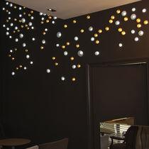 Plafón moderno / redondo / de vidrio / LED