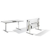 Mesa de conferencia moderna / de chapa de madera / de HPL / de metal