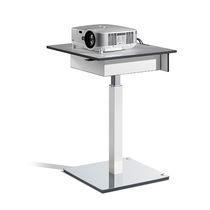 Mesa moderna / de metal / cuadrada / profesional