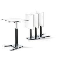 Mesa alta moderna / de chapa de madera / de metal / de HPL