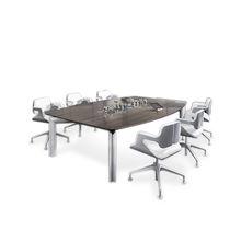 Mesa de reuniones moderna / de chapa de madera / de HPL / de vidrio