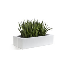 Maceta de jardín de metal / de libre instalación / rectangular