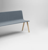 Banco moderno / de madera / con respaldo / tapizado