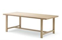 Mesa moderna / de roble / rectangular / extensible