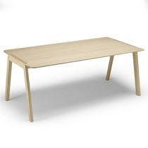 Mesa moderna / de roble / de material laminado / rectangular