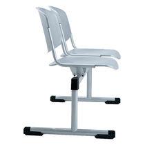 Hileras de sillas de acero / 2 plazas / de interior