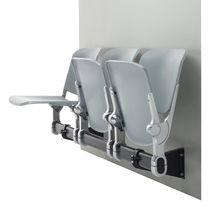 Hileras de sillas de acero / 3 plazas / de interior