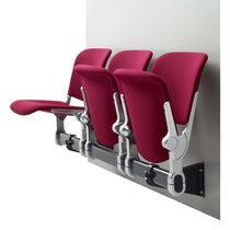 Hileras de sillas de acero / 4 plazas / de interior